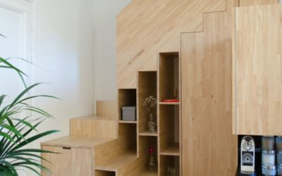 Optimiser son espace de rangement sous un escalier